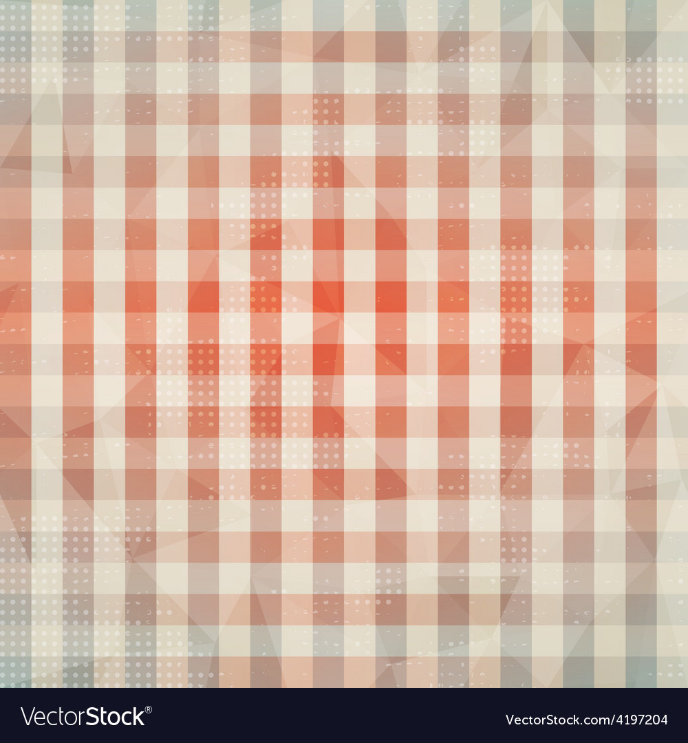 Vintage cloth seamless pattern with grunge effect vector | Price: 1 Credit (USD $1)