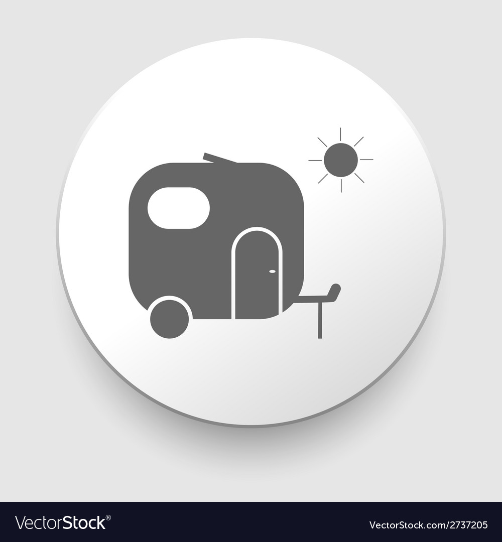 Camper sign on a white background vector | Price: 1 Credit (USD $1)