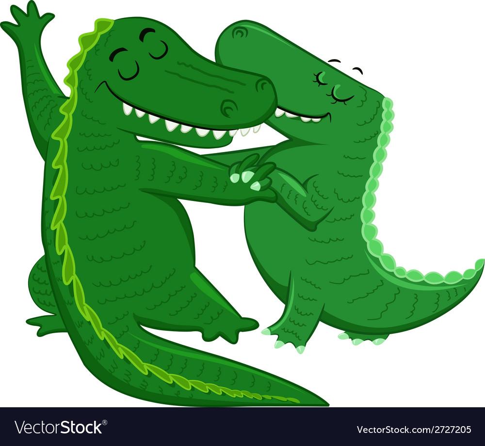 Dancing crocodiles vector | Price: 1 Credit (USD $1)