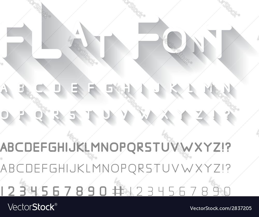 Flat font vector | Price: 1 Credit (USD $1)