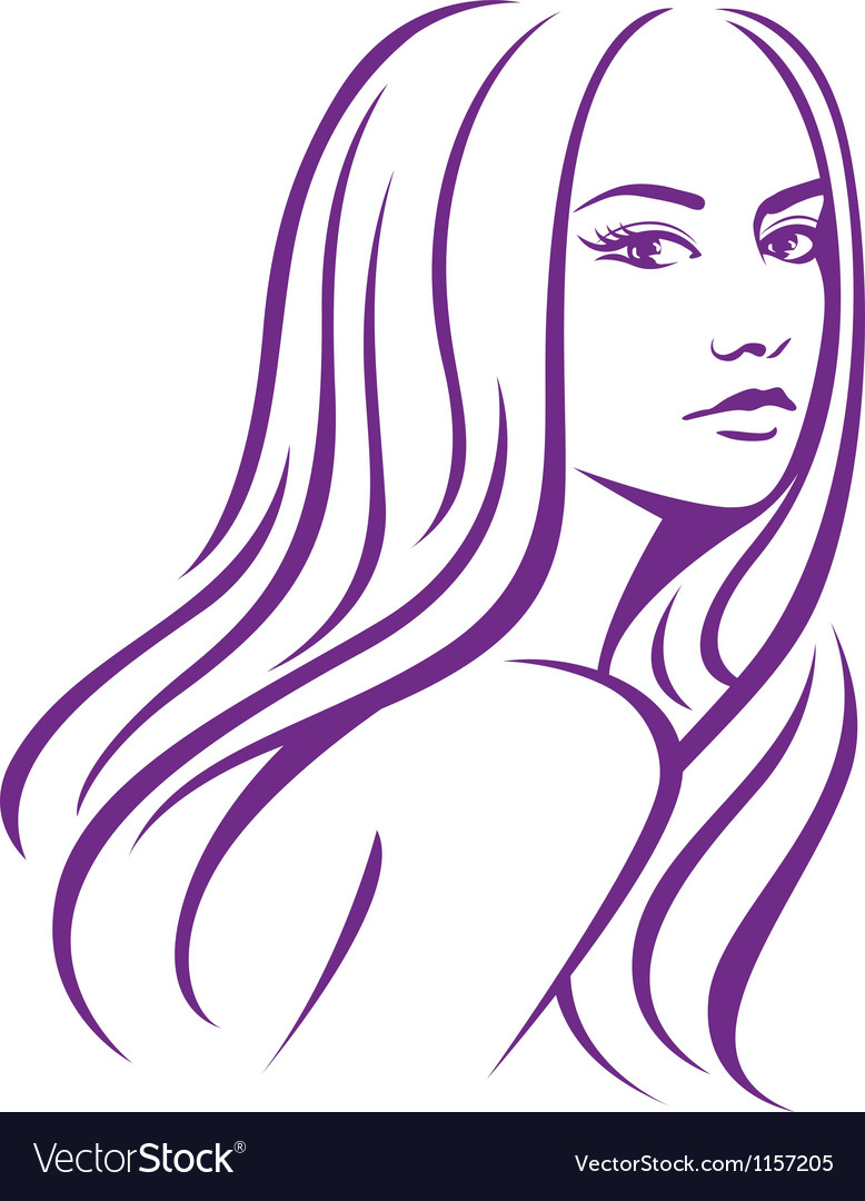 Girl fashion hair vector | Price: 1 Credit (USD $1)