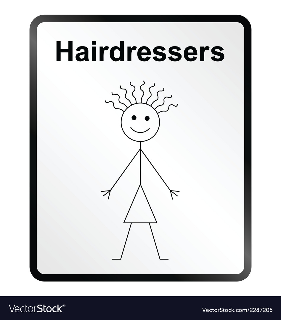 Hairdressers information sign vector | Price: 1 Credit (USD $1)