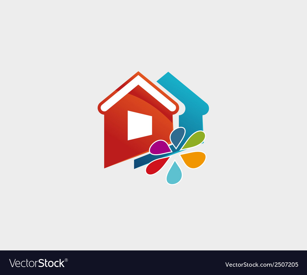 House and flower icon symbol vector | Price: 1 Credit (USD $1)