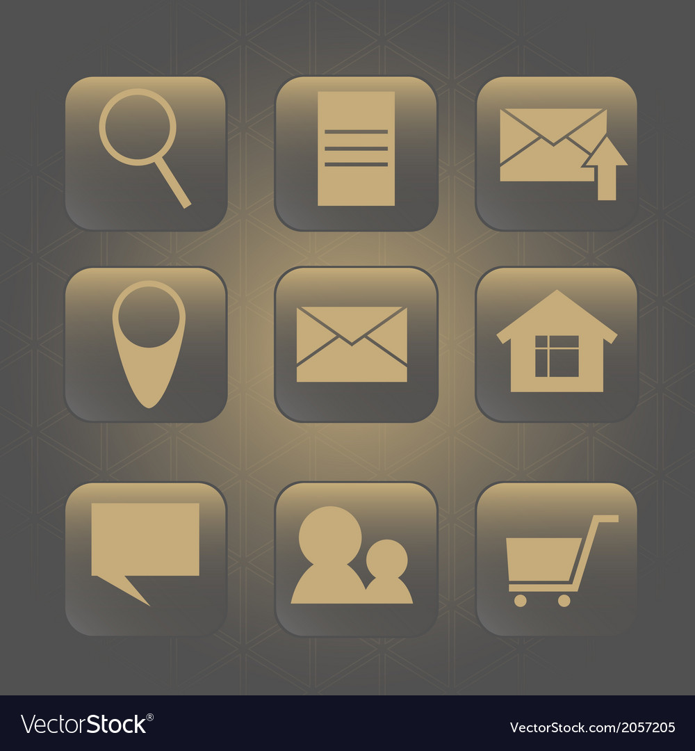 Icon for internet web background with triangles vector | Price: 1 Credit (USD $1)