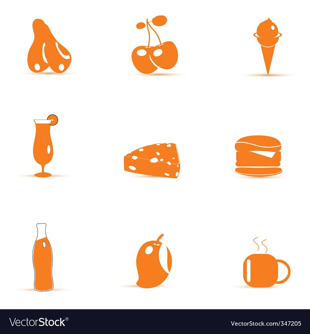 Junk food icons vector | Price: 1 Credit (USD $1)