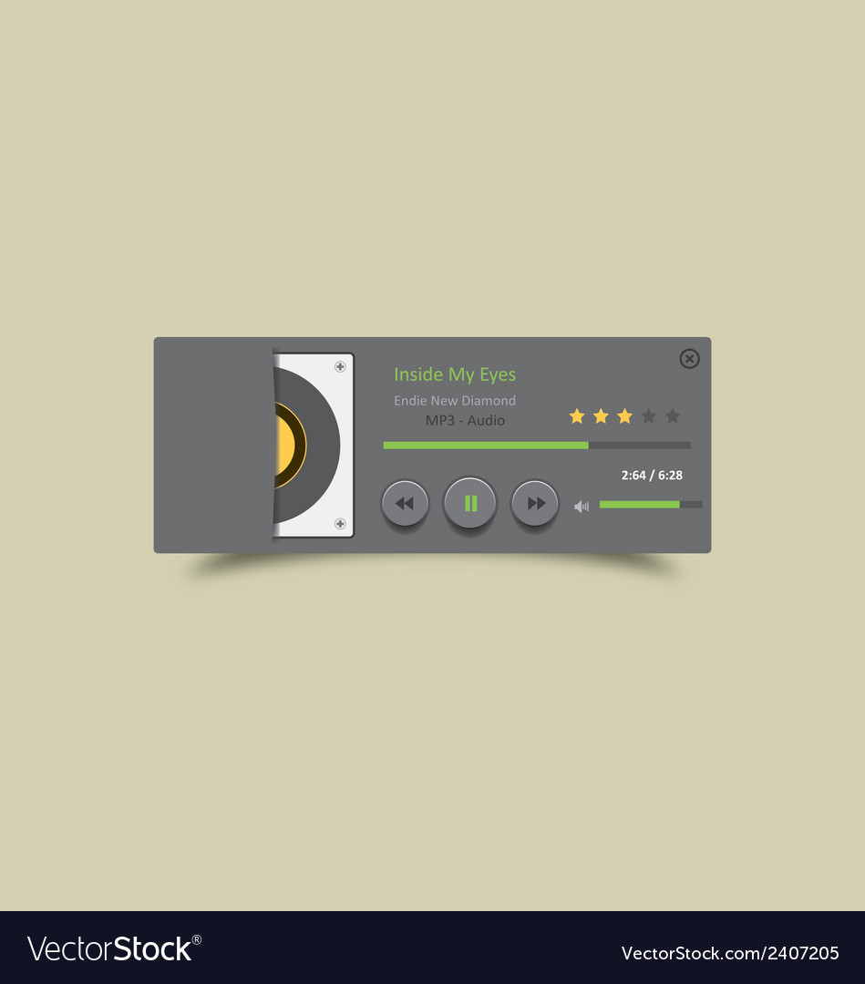 Music player 25 vector | Price: 1 Credit (USD $1)