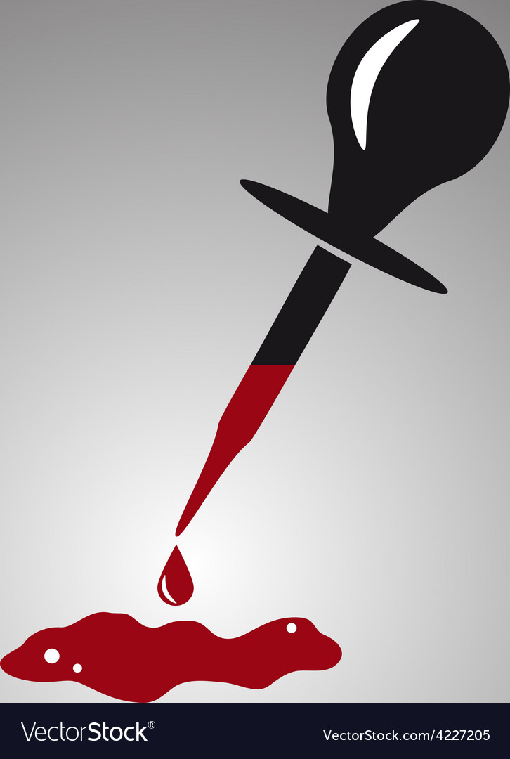 Simple black dropper with red blood drop eps10 vector | Price: 1 Credit (USD $1)