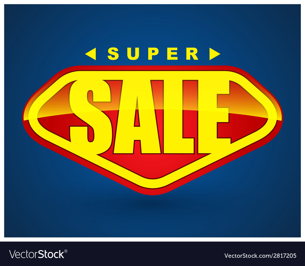 Super sale tag banner vector | Price: 1 Credit (USD $1)