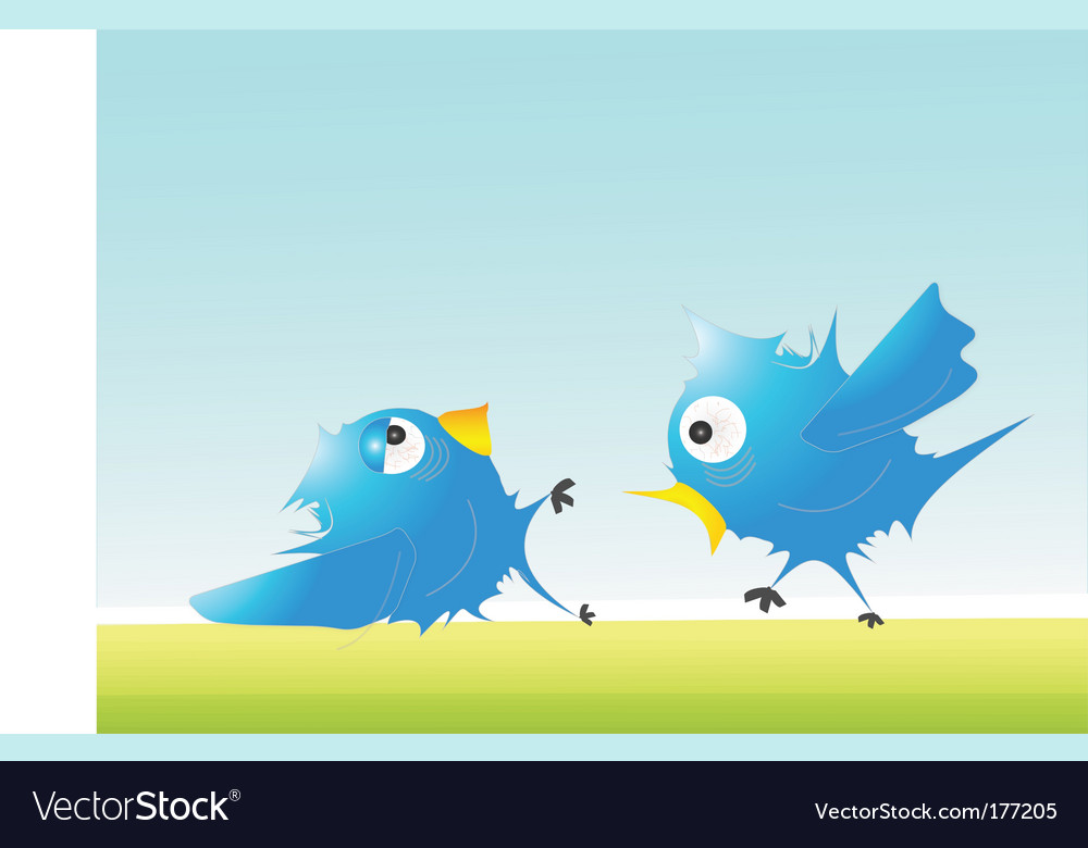 Twitter fight vector | Price: 1 Credit (USD $1)