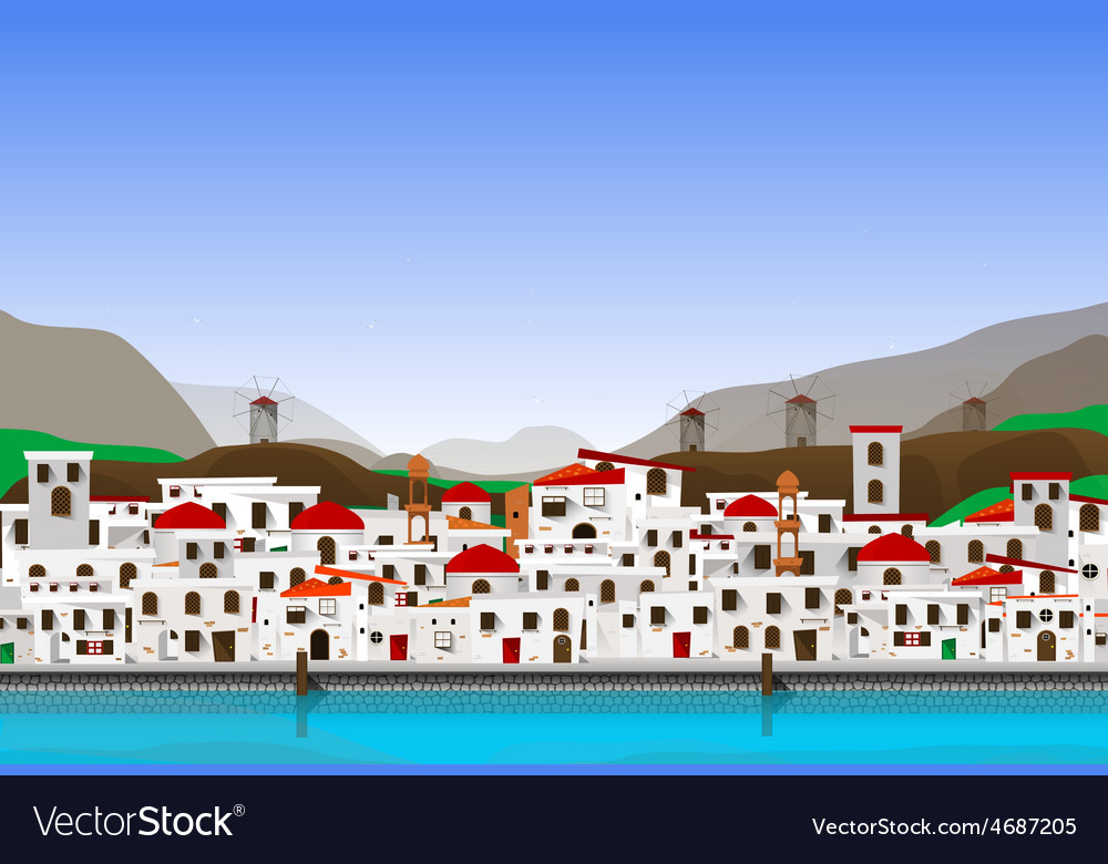 Vacation at greece vector | Price: 1 Credit (USD $1)