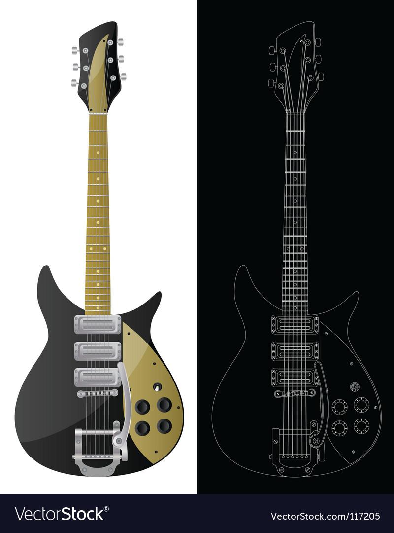 Vintage guitars vector   Price: 1 Credit (USD $1)