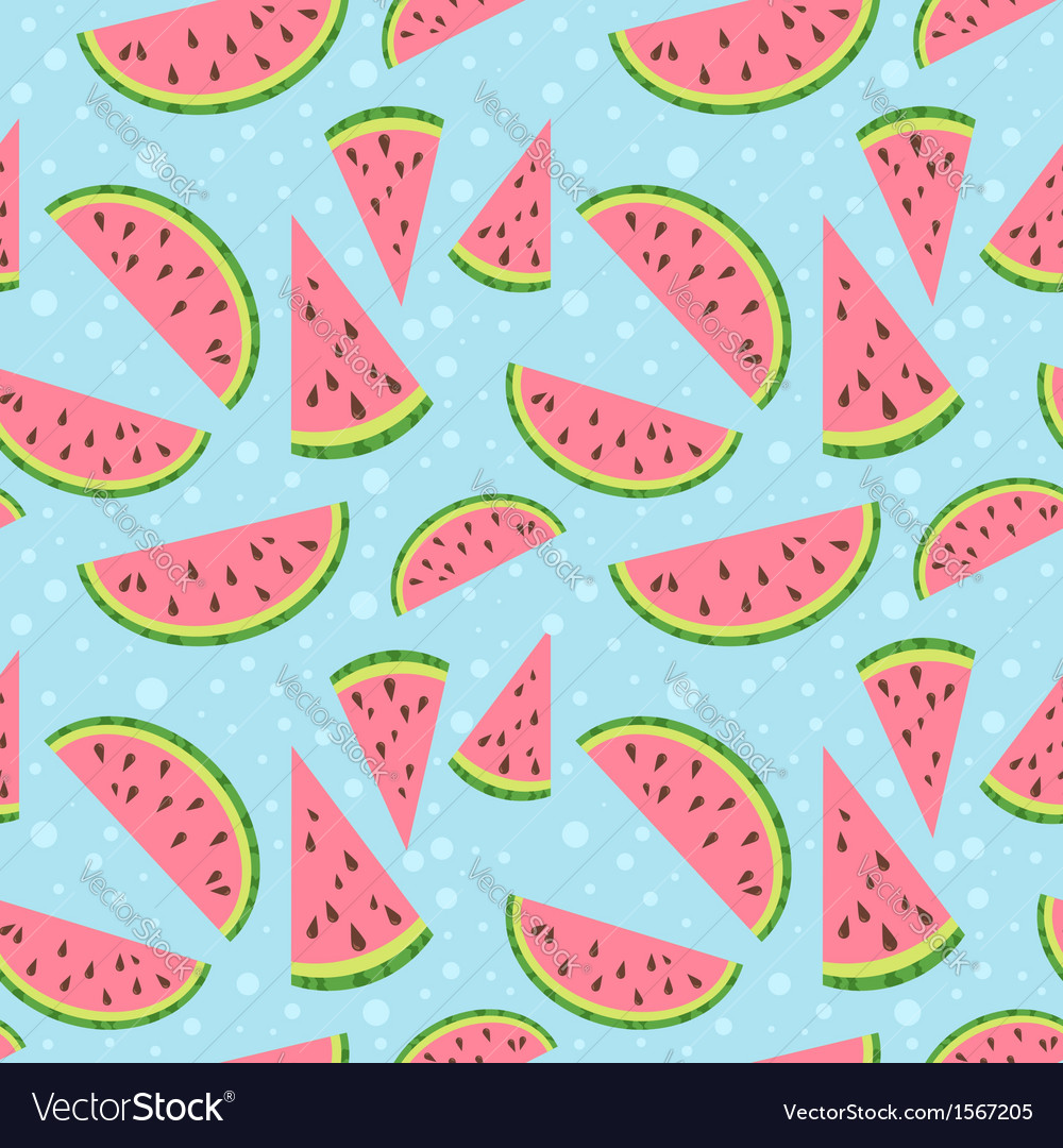 Watermelon colorful seamless pattern vector | Price: 1 Credit (USD $1)
