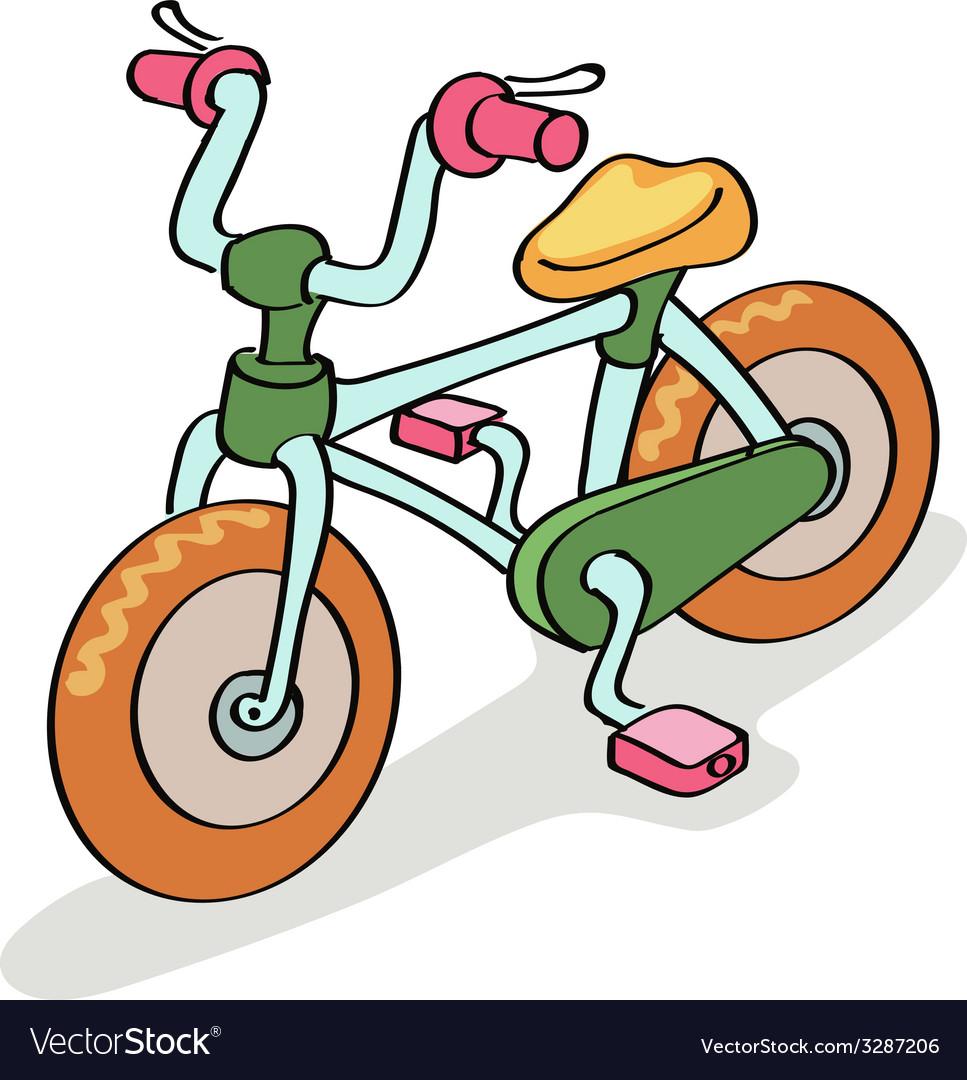 Bicycle cartoon vector | Price: 1 Credit (USD $1)