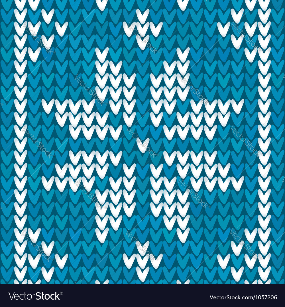 Blue christmas embroidery background vector | Price: 1 Credit (USD $1)