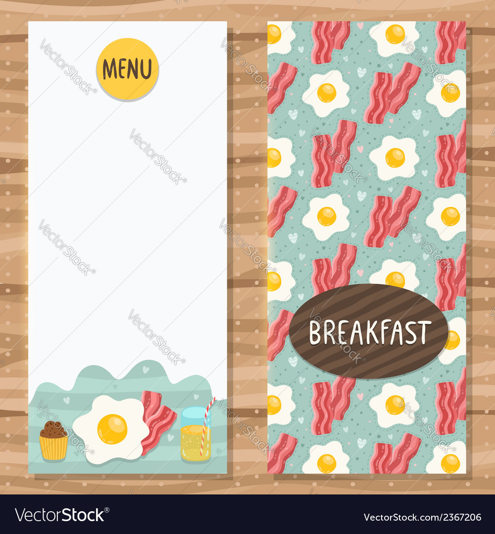 Brochure template for breakfast menu vector | Price: 1 Credit (USD $1)