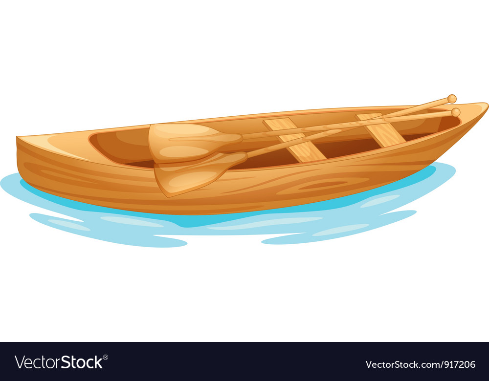 Canoe on water vector | Price: 3 Credit (USD $3)