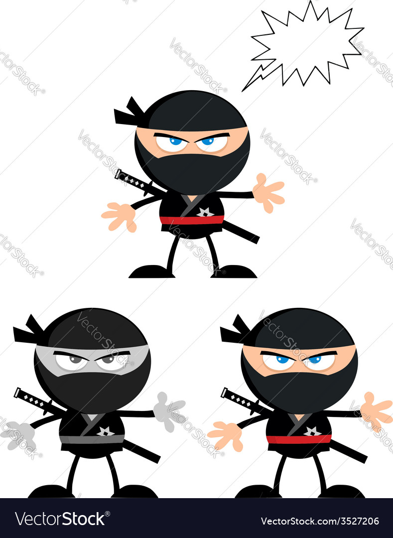 Cartoon ninja vector | Price: 1 Credit (USD $1)