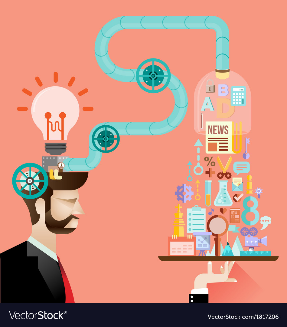 Creative brain idea concept vector | Price: 3 Credit (USD $3)
