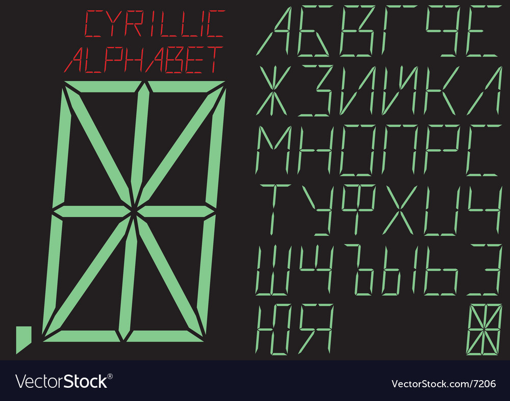 The cyrillic alphabet indicator vector | Price: 1 Credit (USD $1)