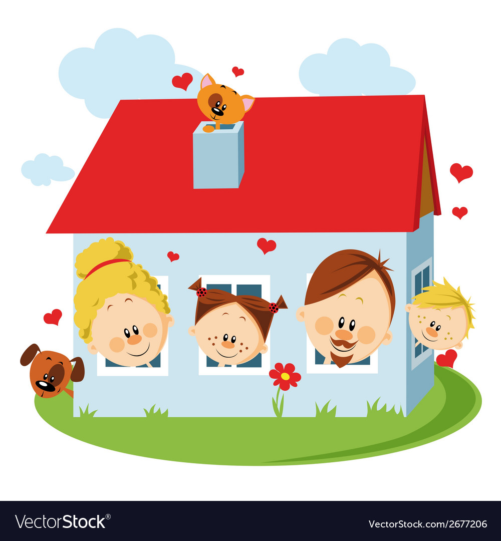 Family house vector   Price: 1 Credit (USD $1)