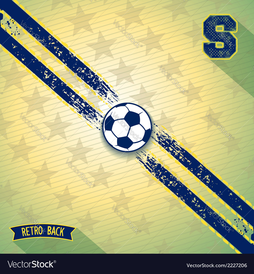 Retro sports design background vector | Price: 1 Credit (USD $1)