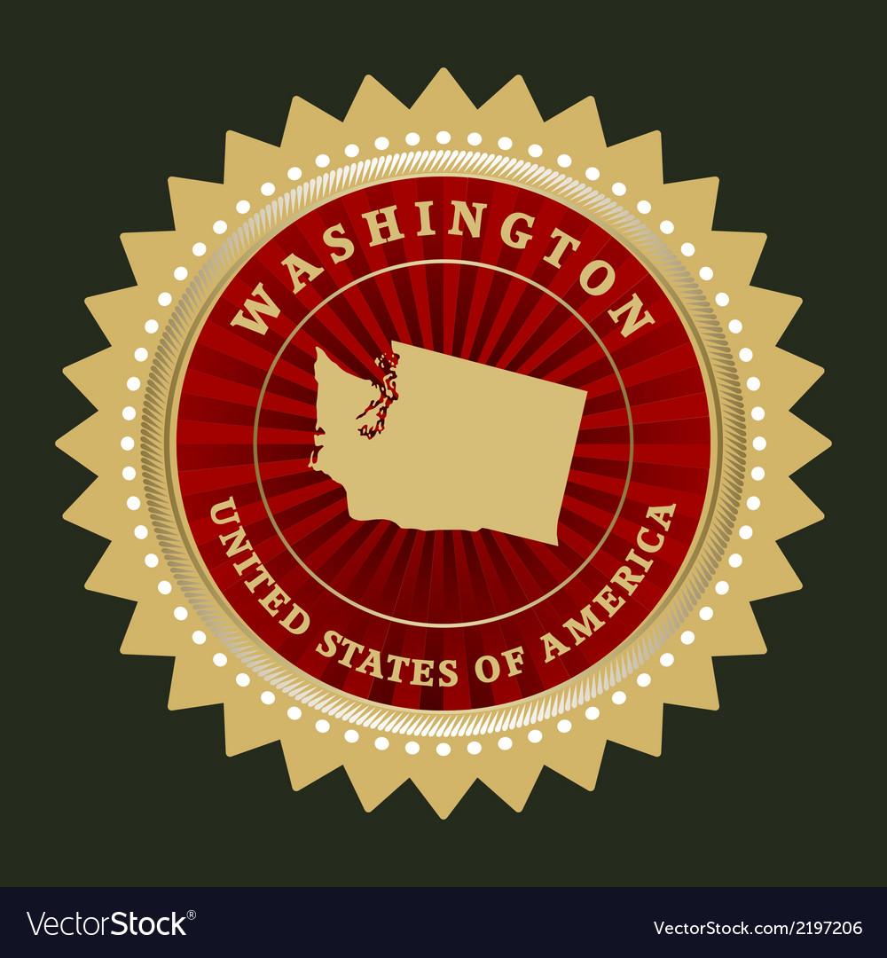 Star label washington vector | Price: 1 Credit (USD $1)