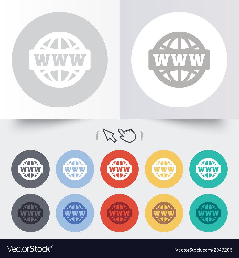 Www sign icon world wide web symbol vector | Price: 1 Credit (USD $1)