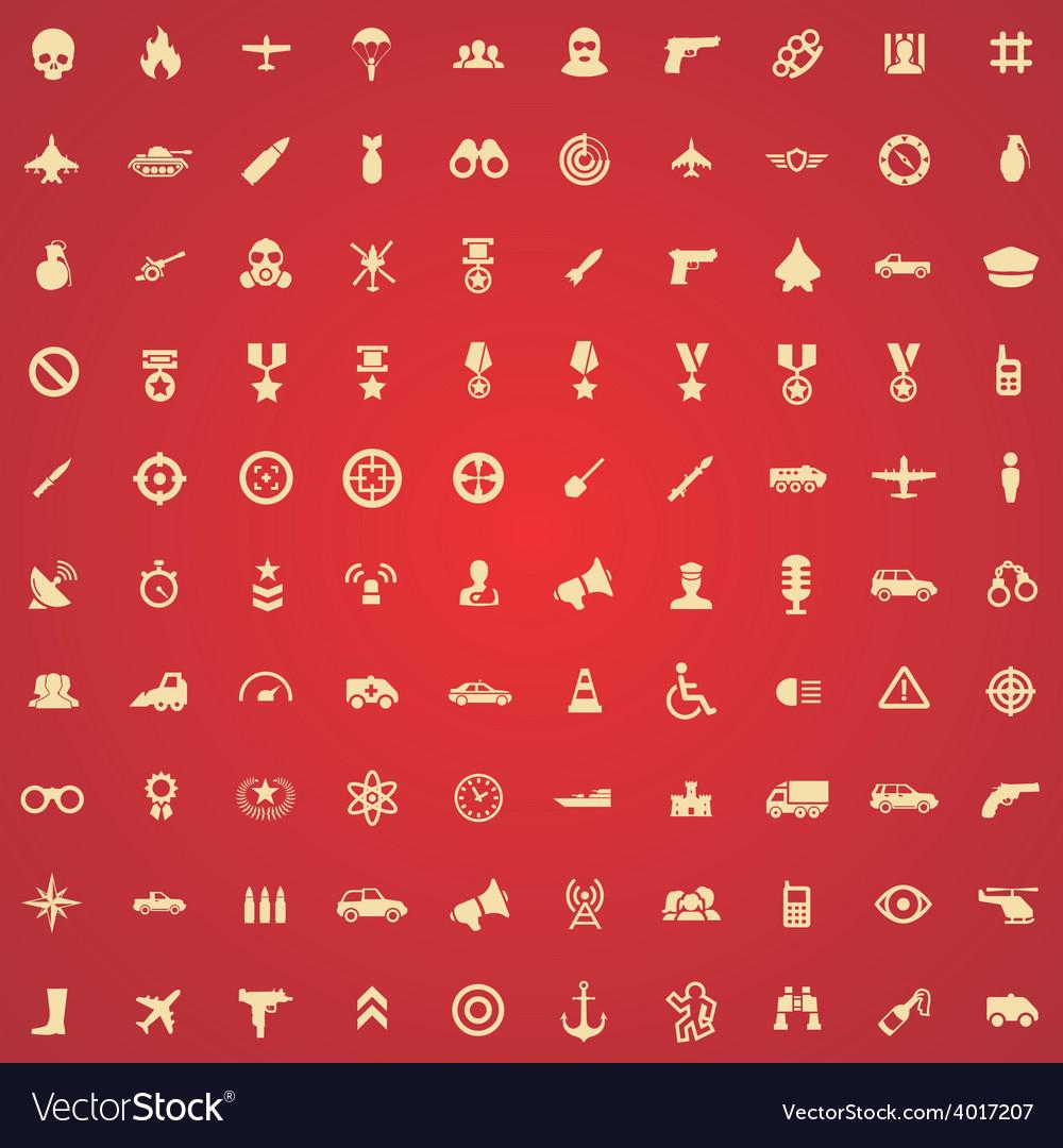100 war icons vector | Price: 1 Credit (USD $1)