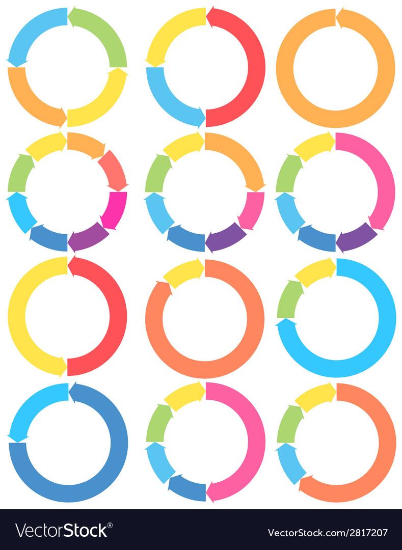 Arrow circle set vector | Price: 1 Credit (USD $1)