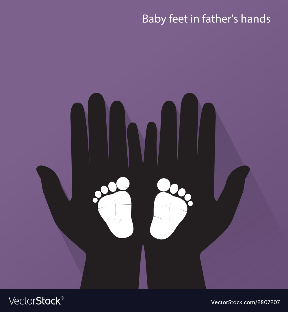 Baby feet in mother s hands vector | Price: 1 Credit (USD $1)