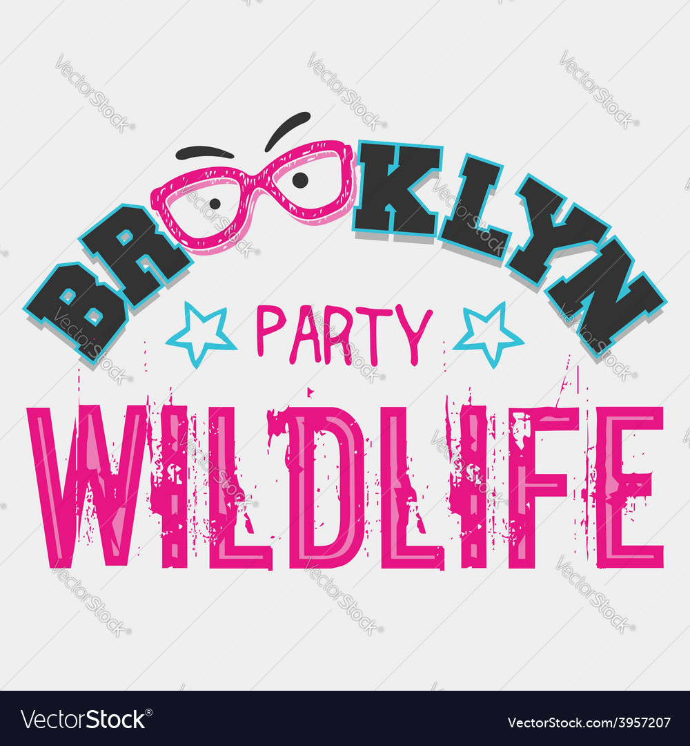 Brooklyn wildlife party vector | Price: 1 Credit (USD $1)