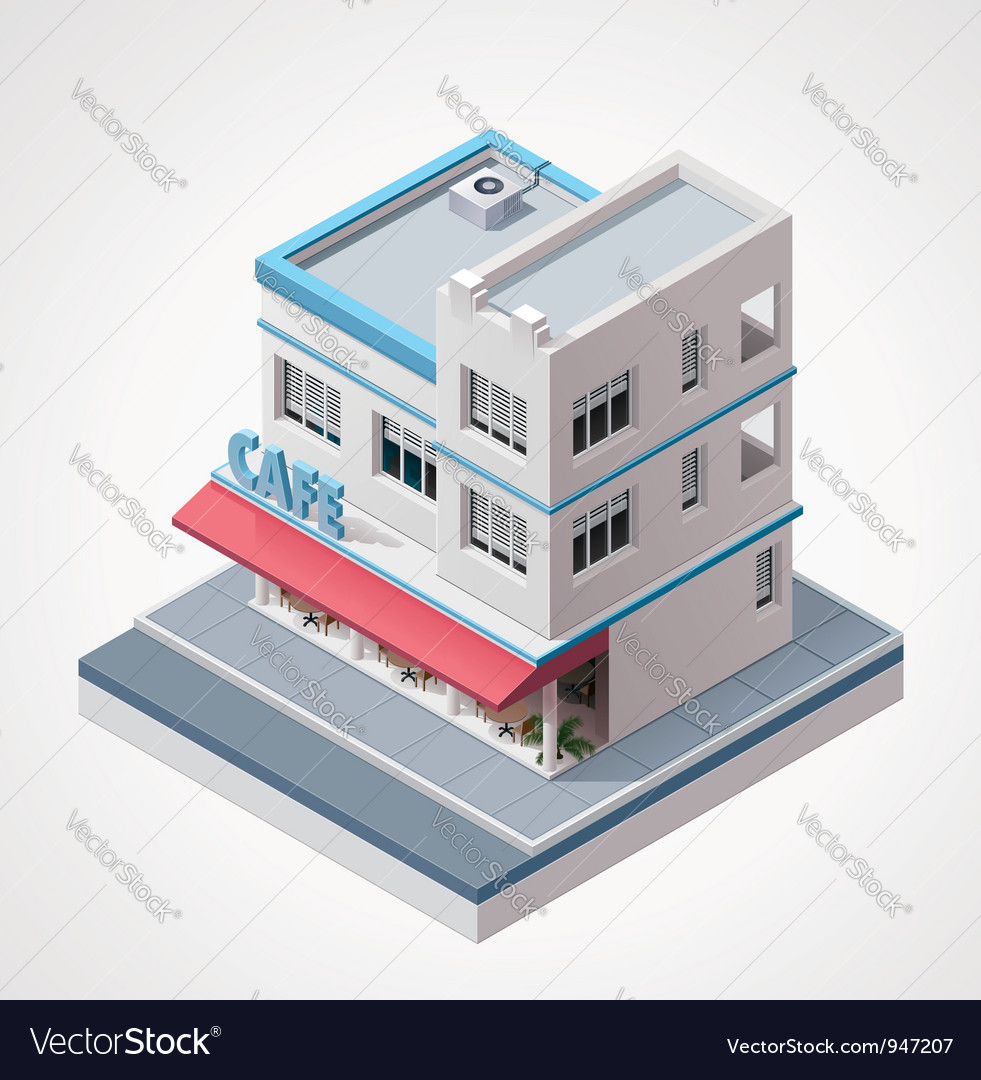 Isometric cafe vector   Price: 3 Credit (USD $3)