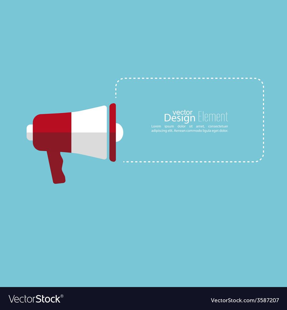 Megaphone loudspeaker with bubbles speech vector | Price: 1 Credit (USD $1)