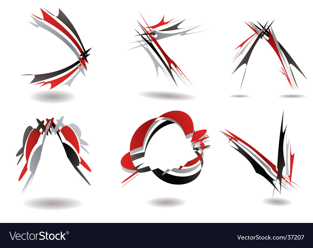 Ribbon logo twist vector | Price: 1 Credit (USD $1)