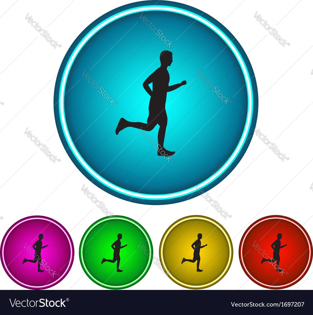 Running man icon vector | Price: 1 Credit (USD $1)