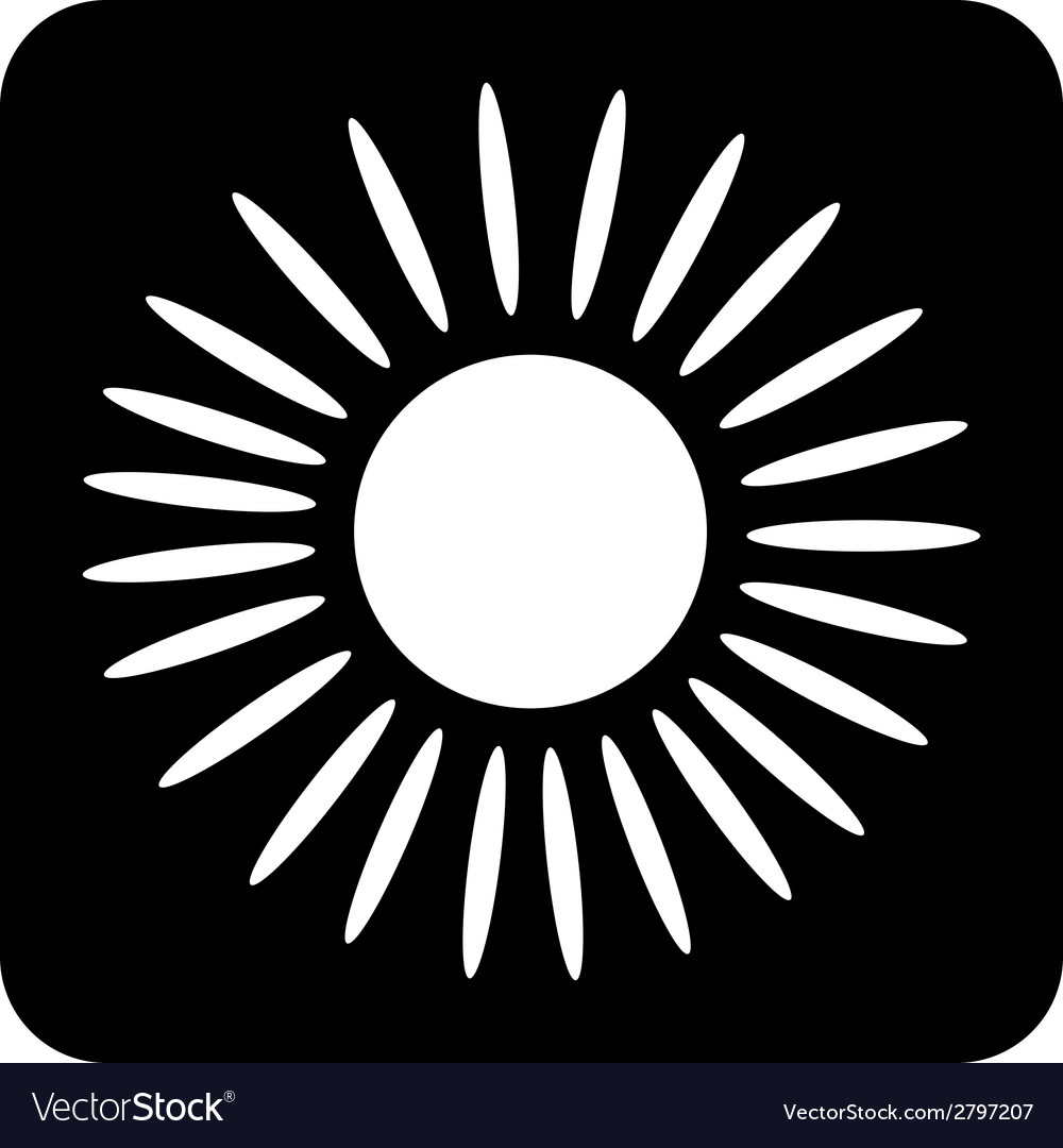 Sun button vector | Price: 1 Credit (USD $1)