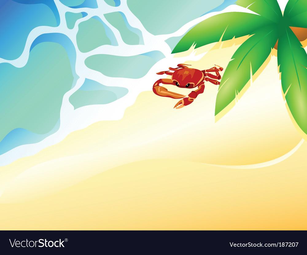 Tropic beach vector | Price: 1 Credit (USD $1)
