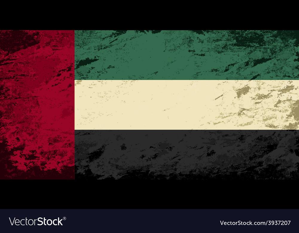 United arab emirates flag grunge background vector | Price: 1 Credit (USD $1)