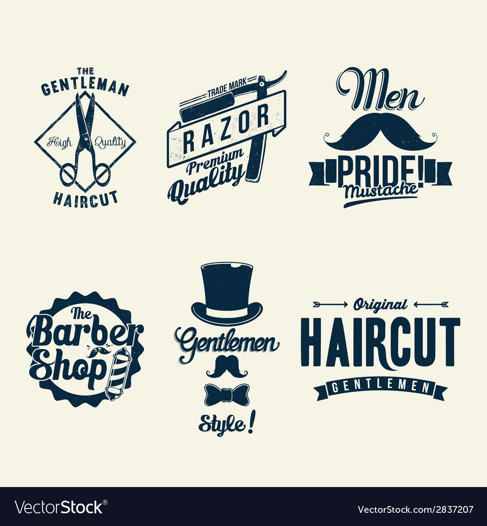 Vintage barber shop vector | Price: 1 Credit (USD $1)