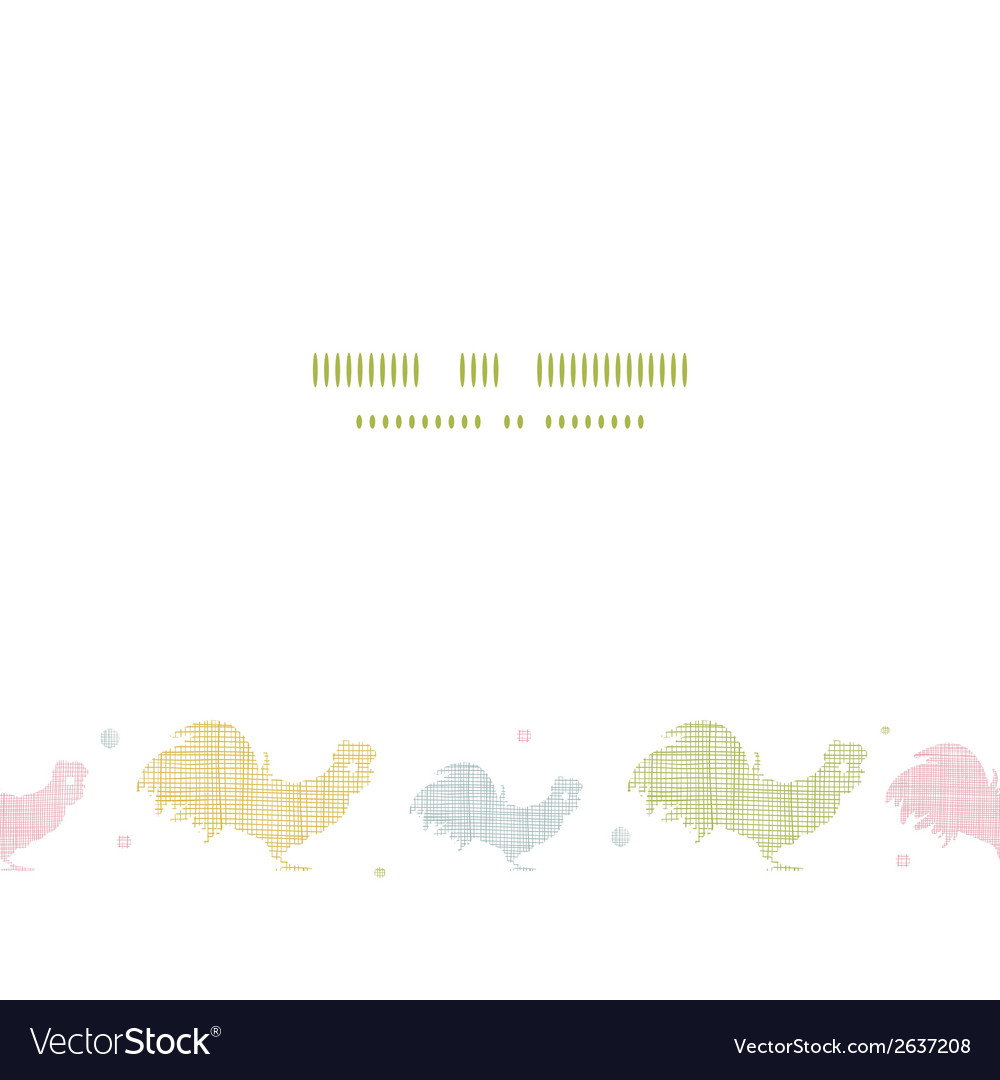 Abstract textile roosters horizontal seamless vector | Price: 1 Credit (USD $1)