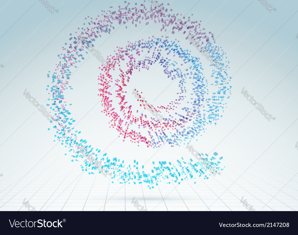 Colorful abstract bright particle spiral vector | Price: 1 Credit (USD $1)