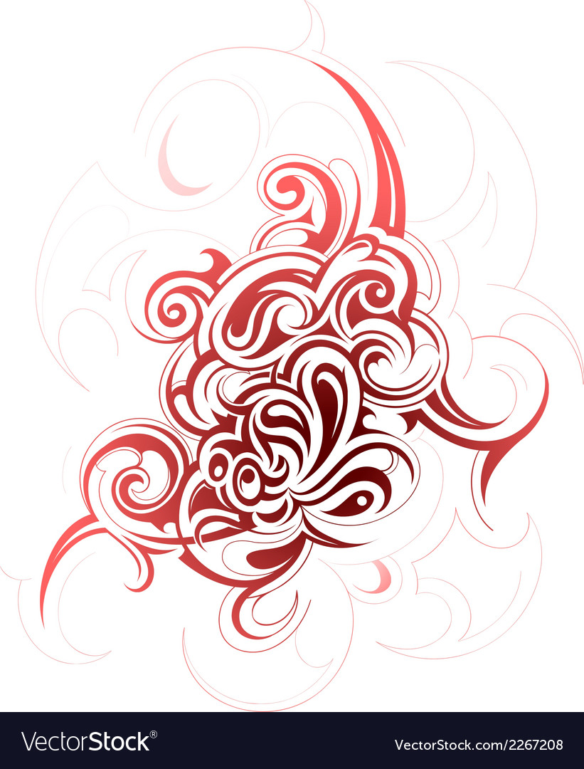 Decorative abstraction with tribal art elements vector | Price: 1 Credit (USD $1)