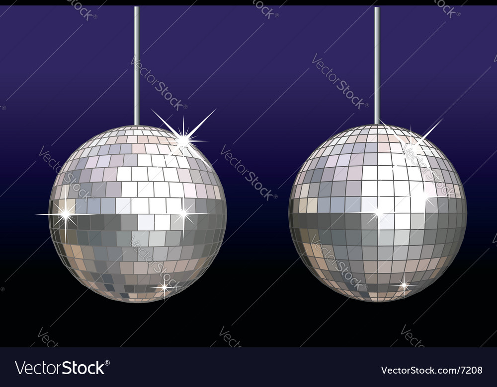 Disco ball set vector | Price: 1 Credit (USD $1)