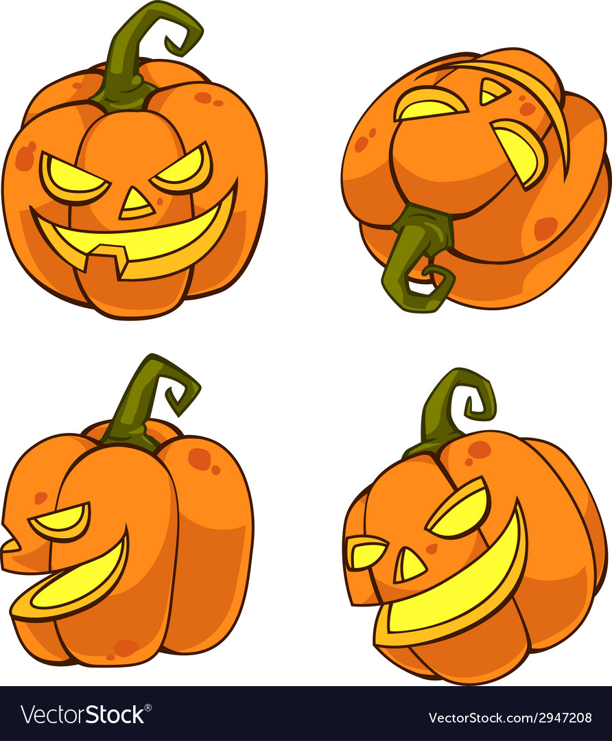 Halloweenpumpkincartoon vector | Price: 1 Credit (USD $1)