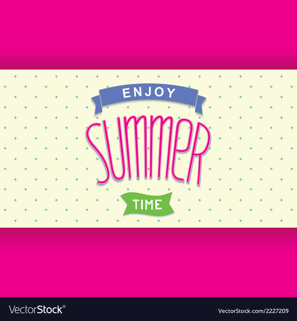 Abstract summer card template vector | Price: 1 Credit (USD $1)