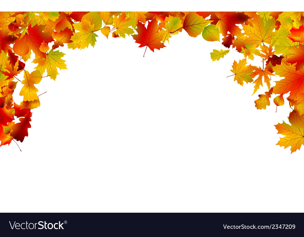 Autumn colored leaves framing eps 8 vector | Price: 1 Credit (USD $1)