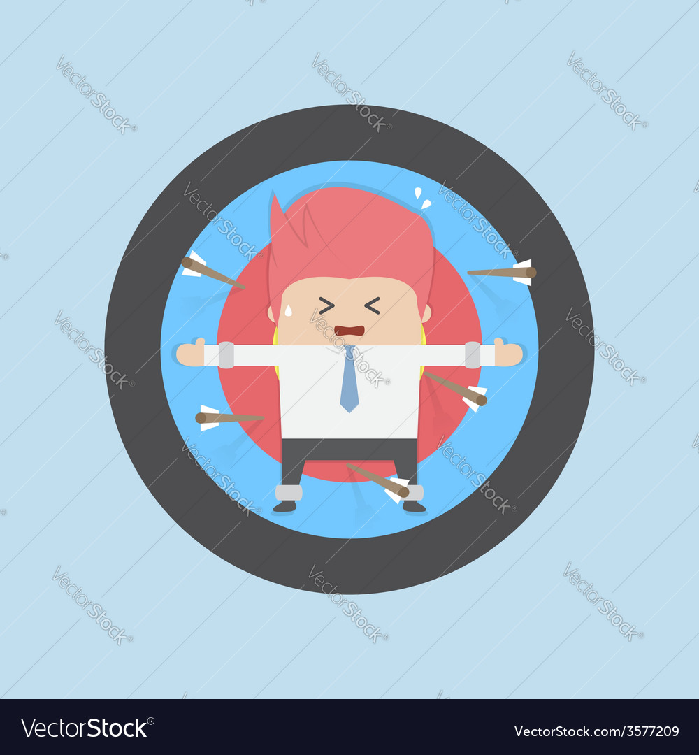 Businessman on archery targets risk concept vector | Price: 1 Credit (USD $1)