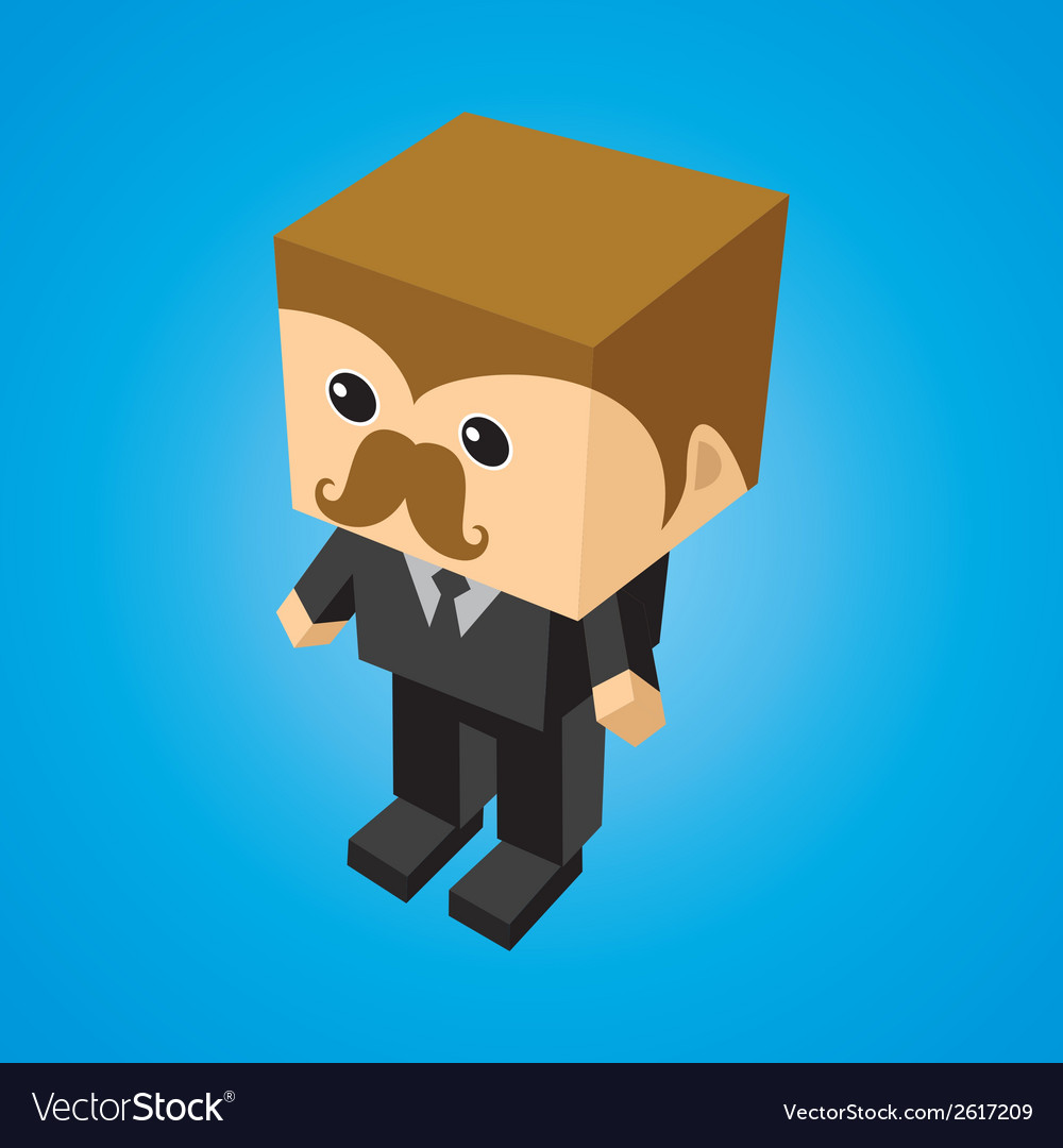 Cartoon cube vector | Price: 1 Credit (USD $1)