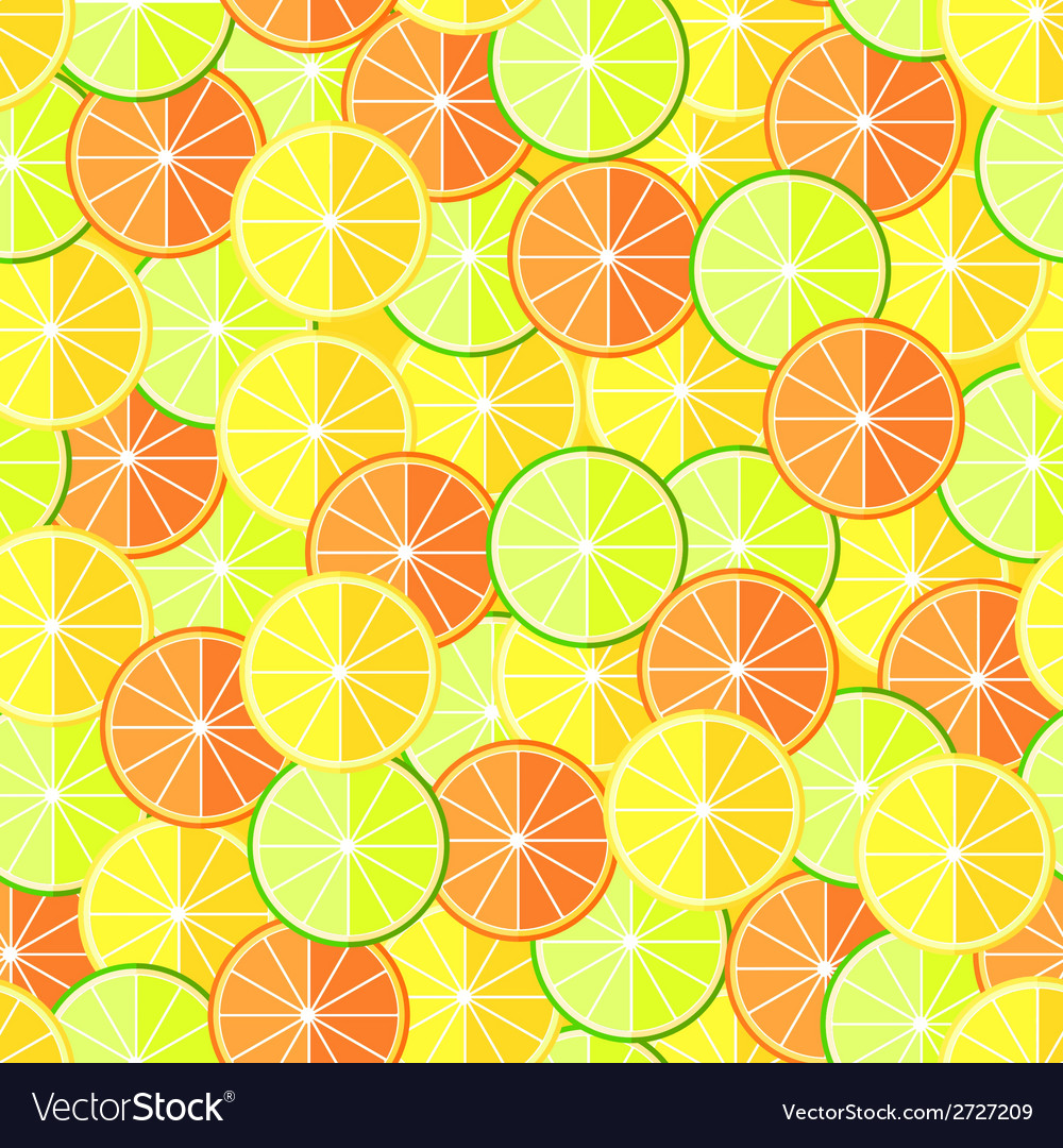 Citrus seamless pattern with lemons oranges and vector | Price: 1 Credit (USD $1)