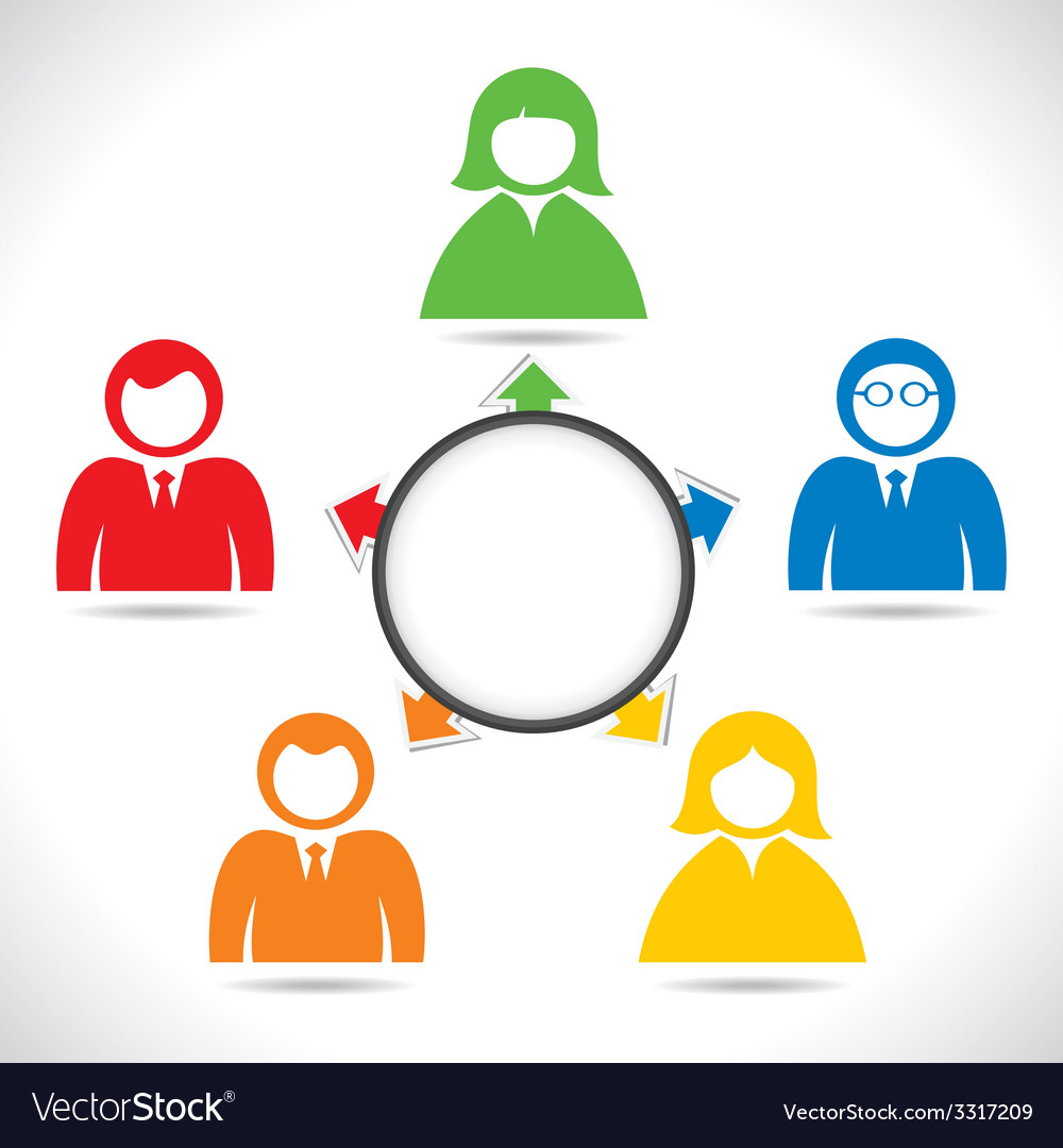 Color business people in meeting vector | Price: 1 Credit (USD $1)